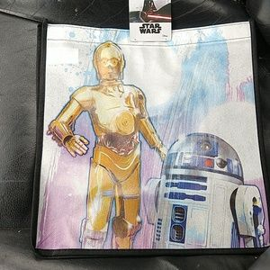 Star Wars C-3PO and R2-D2 reusable tote bag